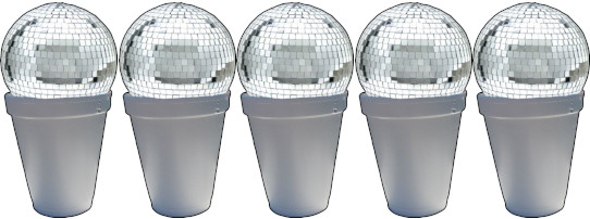 5 Discoball Snowcones